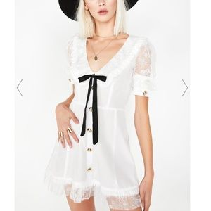 For Love & Lemons Royale Mini Dress RARE $215 Sz M